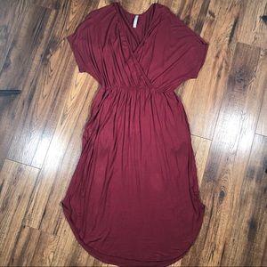 Trendy United burgundy wrap dress Large